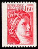 France N° 2158 ** SABINE De GANDON Le 1.60 Fr Rouge De Roulette - France
