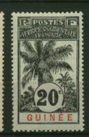 Guinée  Ballay  Faidherbe  Palmier  N° 38  Neuf *  Cote Y&T  7,10  €uro  Au Quart De Cote