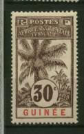 Guinée  Ballay  Faidherbe  Palmier  N° 40  Neuf *  Cote Y&T  9,50  €uro  Au Quart De Cote