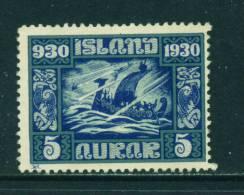 ICELAND - 1930 Parliament Millenary 5a Unused (no Gum) - Neufs