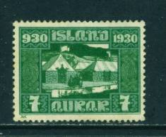 ICELAND - 1930 Parliament Millenary 7a Unused (no Gum) - Neufs