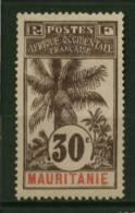 Mauritanie  Ballay  Faidherbe  Palmier  N° 8  Neuf *  Cote Y&T  160,00 €uro  Au Quart De Cote