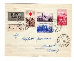 ITALIA 1959 1° G USO SERIE GUERRA INDIPENDENZA SU RACC. LUTIRANO > MARRADI (B204) - 6. 1946-.. Repubblica
