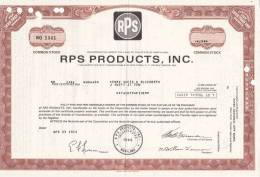 Bonds/Shares:1973 RPS Products,INC., Value: Shares 25 (A 330a) - Industrie