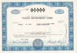 Bonds/Shares:1969 Vogue Instrument Corp., Value: Shares 100 (A330a) - Shareholdings