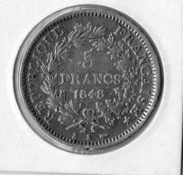5 Francs Hercule(1848 K ) Argent - France