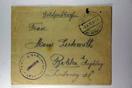 Germany: Cover Feldppostbrief KD Feldpostexp. Der 49. Res. Div., To Magdeburg - Briefe U. Dokumente
