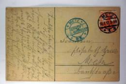 Germany: 1917, Local Used Censored Postcard Metz, Elzas - Lotharingen - Briefe U. Dokumente