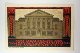 Germany: Offizielle Postkarte Nationalversammlung Weimar 1919 Mit Sonderstempel Luftpost