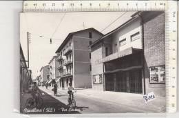 PO8342B# REGGIO EMILIA - NOVELLARA - VIA CAVOUR - CINEMA ROMA - BAMBINI BICICLETTE    VG 1963 - Reggio Nell'Emilia