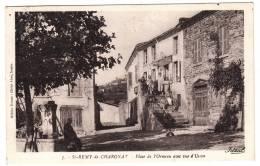 63 - Saint Rémy De Chargnat - Place De L'Ormeau Avec Vue D'Usson - Editeur: Rouvet N° 7 - Altri Comuni
