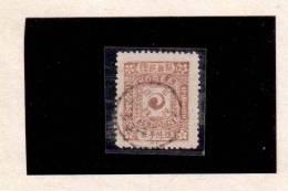 XX3877  -  KOREA ( KOENIGREICH CHOSON )  -   Used     MICHEL NR.  5 II  ( 2. Auflage  ) -   25 P   Dunkellilarot - Corea (...-1945)