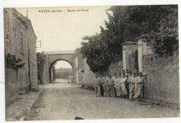 NOYEN Sur SARTHE  -  Route De Fercé. Militaires. - Autres Communes