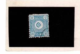 XX3895  -  KOREA ( KOENIGREICH CHOSON )  -   Used    MICHEL NR.  2  -  ( Gez.  8  1/2 )  Hellblau - Corea (...-1945)
