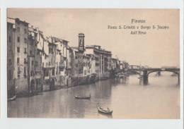 Firenze Una Veduta Dell Arno Col Ponte A S Trinita Italy Old PC - Firenze (Florence)