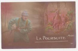 """Carte Postale Ancienne Patriotique """"la Poursuite"""" - Patriotiques"""