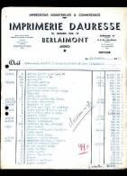 BERLAIMONT        -           IMPRIMERIE  DAURESSE - Alimentaire