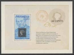Mauritius 1979 B 11 - Mi 483 ** Sir Rowland Hill (1795-1879) + Stamp Mauritius Minr. 2 / 100. Todestag Von Rowland Hill. - Sellos Sobre Sellos