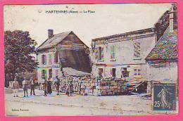 HARTENNES AISNE LA PLACE RESTAURANT POTTEAUX  ANIMATION - France