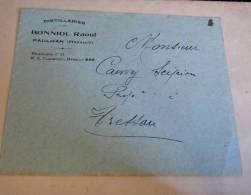 Lettre Distilleries Bonniol Raoul, Paulhan - Marcophilie (Lettres)
