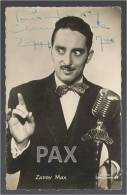 ZAPPY MAX - ANIMATEUR RADIO - Autographe - Signee Par L Artiste - Carte Dedicacee - 2 Scans - Artistes