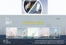 UAE,new Issue 2012 -22nd Dhow Sailing Race 2 Staps + 1 Souvenir Sheet- Nice Topical Issue-SKRILL PAYMENT ONLY - United Arab Emirates