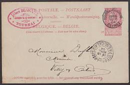 Belgien TORNAI (STATION) Ganzsachenkarte Von 1904 - 1905 Breiter Bart