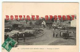 23 - LAVAVEIX Les MINES - RARE < Edition HM N° 15 - Wagonnet Et Tas De Poutres Pour La Mine Au Passage à Niveau - Autres Communes