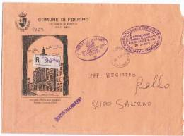 1994 - Comune Di Foligno - Busta Raccomandata In Franchigia - Affrancature Meccaniche Rosse (EMA)
