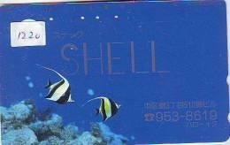 Telecarte Japon Coquillage (1220)  Sea Shell * JAPAN * 110-551 * Muschel Seashell  Muszle * FOSSIL* Conchiglia * POISSON - Télécartes