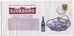 1978  Busta Con Pubblicità Vini Classici Piemontesi GIORDANO - Vino