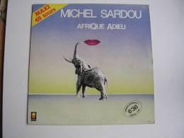 "MAXI - MICHEL SARDOU  - TREMA 510003  "" AFRIQUE ADIEU ""  + 1 - 45 T - Maxi-Single"