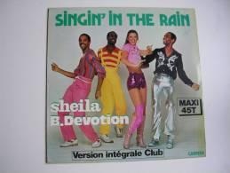 "MAXI - SHEILA  - CARRERE 8005  "" SINGIN' IN THE RAIN ""  + 1 - 45 T - Maxi-Single"