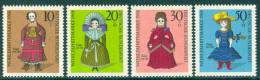 GERMANY 1968 Humanitarian Relief Funds. Dolls Set (4v), XF MNH - Dolls