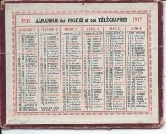ALMANACH DES POSTES ET DES TELEGRAPHES - CALENDRIER 1917 - Calendriers