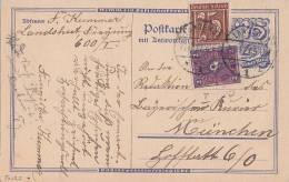 DR GS Zfr. Minr.161,191 Plf. I Landshut 22.10.22 Geprüft - Briefe U. Dokumente