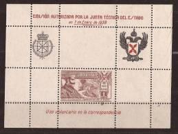 RQT12-LM078TEO.Espagne. Spain.España.Escudo.Zumal Acarregui.Requetes.Hoja Bloque1938. (Galvez 12**)en Nuevo.Muy RARA - Otros