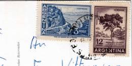 Argentina - Austria, 2 Sellos En Postal BUENES AIRES - CALLE FLORIDA! - Argentinien