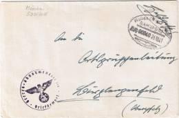 (152) Brief Bahnpost MÜNCHEN-SAALFELD 1941 Feldpost - Usados
