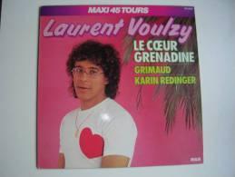 """MAXI - LAURENT VOULZY  - RCA 8408  """" LE COEUR GRENADINE """"  + 2 - 45 Rpm - Maxi-Single"""