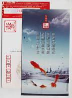 Red Golden Fish,CN12 Yong´an Water Conservancy Bureau Managing Water Affairs According To Law Advert Pre-stamped Card - Fishes