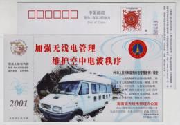 Radio And TV Mobile Monitoring Vehicle,Radio Regulations,CN01 Hainan Radio Management Office Advert Pre-stamped Card - Physics