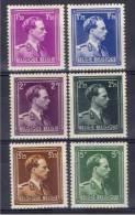 Belgique 641/46 ** - 1936-1957 Col Ouvert