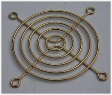 GRILLE DE VENTILATEUR 80 X 80 Mm COULEUR OR - NEUVE - Technical