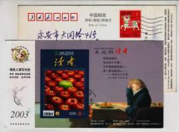 Fruit Apple,Yugoslavia Folk Song,China 2003 Readers Magazine Advertising Pre-stamped Card - Fruits