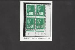 Coins Datés Marianne Bequet  1891 - 80c Vert  C+D 1er Tir - 7/9/76 Superbe** - 1971-76 Marianne Of Béquet