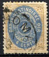 DANISH WEST INDIES 1873 Wmk Crown Perf.14 - Yv.7 (Mi.7 Ib, Sc.7) Used - Denmark (West Indies)