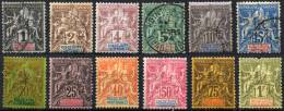 GUADELOUPE 1892 - Yv.27-39 Part. Set (no Yv.35) U-MLH-MH (VF Except Yv.39) - Guadeloupe (1884-1947)