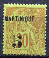 MARTINIQUE 1886 - Yv.1 (Mi.1, Sc.1) MLH (traces De Charniere) Perfect (VF) - Martinique (1886-1947)