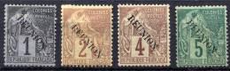 REUNION 1891 - Yv.17-20 (Mi.17-20, Sc.17-20) MH-MLH (all VF) Perfect - Nuovi